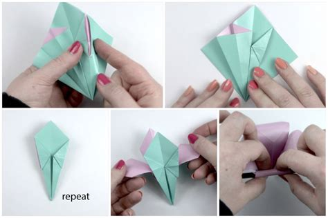Paper Folding Flowers Step By Step - how to make an easy origami flower