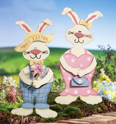 easter bunny welcome greeter outdoor decorations from