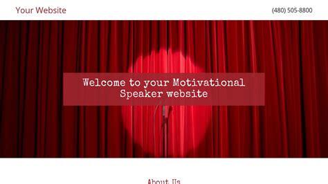 Exle 1 Motivational Speaker Website Template Godaddy Speaker Website Templates