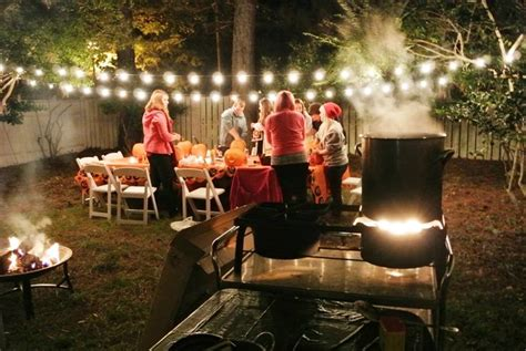 halloween backyard party host a pumpkin carving party the bright ideas blog