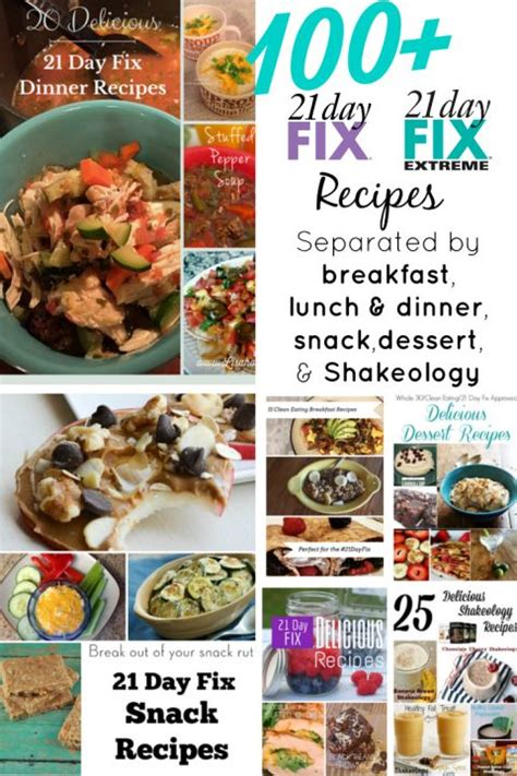 8 Fix Breakfasts For by More Than 200 21 Day Fix Recipes Recipe 21 Days And Lunches
