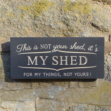 Shed Sign by Engraved Wooden Shed Sign By Winning Works