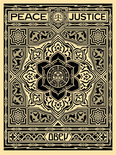 obey rug obey peace and justice ornament black obey