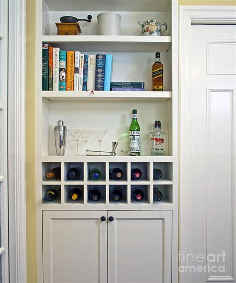 Built In Cabinet Wine Rack by Built In Shelving And Wine Rack Photograph By Francis Zera