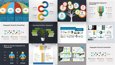 how to use a powerpoint template 35 free infographic powerpoint templates to power your