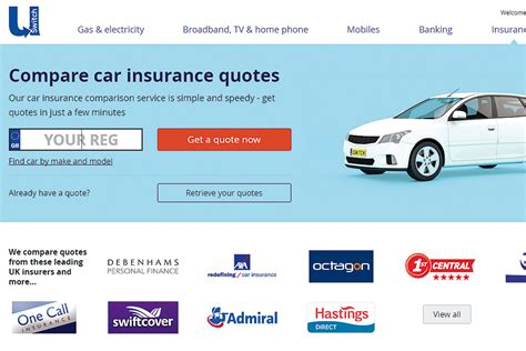 insurance comparison websites  group test