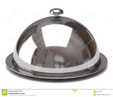 cloche cuisine cloche de restaurant illustration stock image du chrome