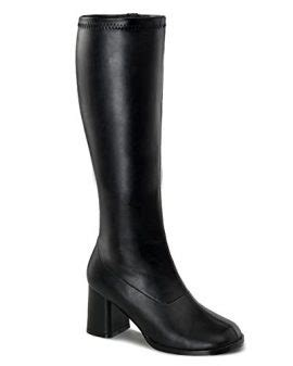 knee high boots 3 inch heel womens knee high boots gogo 3 inch wide calf block