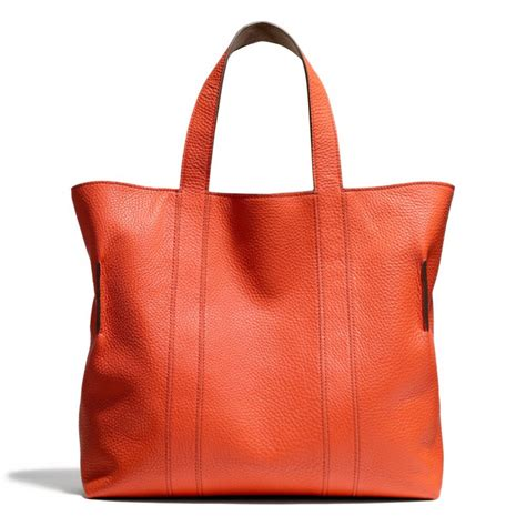 Coach Pabbled Leather Tote coach bleecker reversible tote in pebbled leather