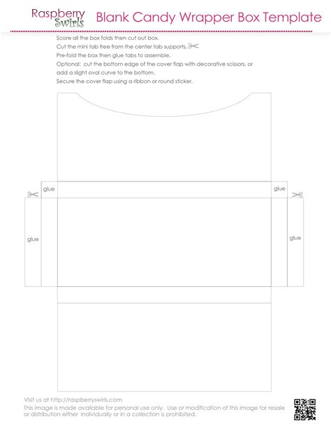 7 best images of free printable candy box templates free