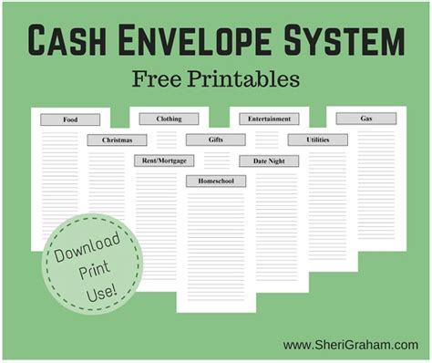 printable cash envelope system passionate penny pincher