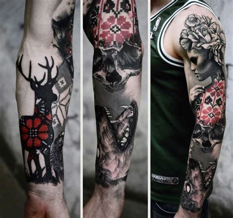 skull sleeve tattoos for men top 80 best skull tattoos for manly designs and ideas