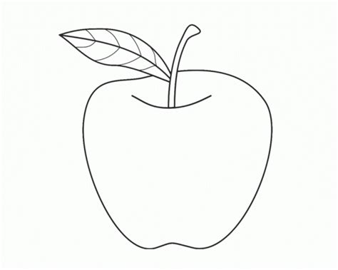 Coloring Page Apple by Apple Colouring Pages For