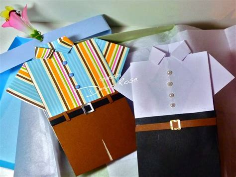 Origami Shirt Box - s day origami folded shirt cards in a shirt box by