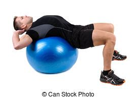 fitball dumbbell chest fly s exercises shows finishing position of fitball dumbbell
