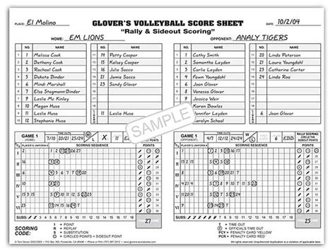 printable volleyball score book high school volleyball score book