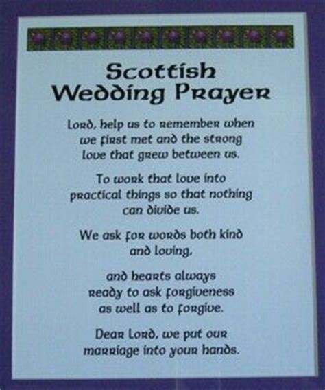 Wedding Blessing Verses by Scottish Wedding Prayer Scottish Sayings Proverbs