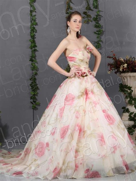 brautkleider zartrosa floral evening gown prom floral