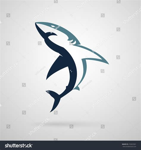 shark logo on white background stock vector 272023301