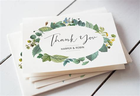 wedding thank you cards template new wedding thank you card template