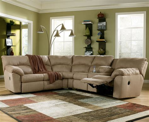 Sectional Furniture With Recliners by Mocha Fabric Reclining Sectional Sofa S3net