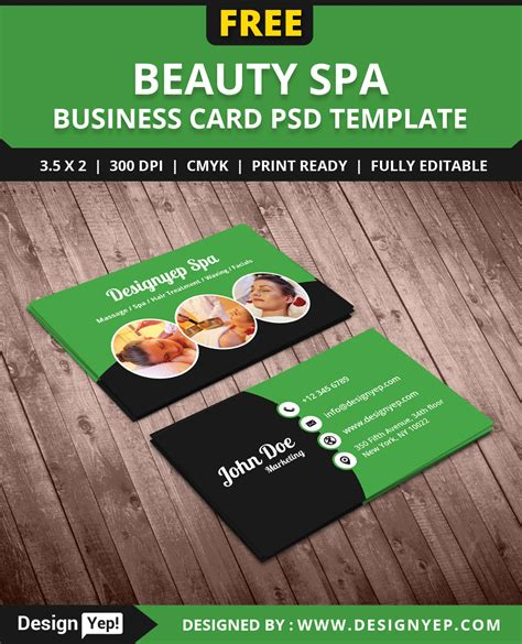 cosmetology business card templates free free spa business card psd template on behance