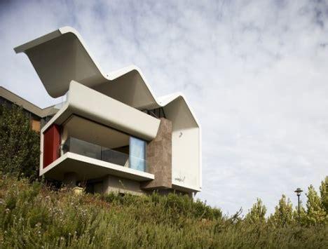concrete roof house plans wave smile concrete cantilever sets house apart in style