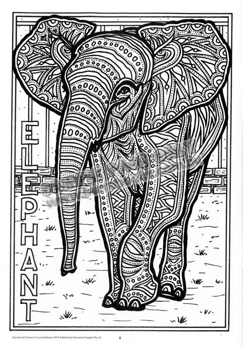 Patterned Animal Coloring Pages by Animal Colouring Pages With Patterns Animals Coloring