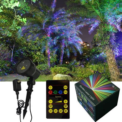 remote control red green blue change firefly garden laser