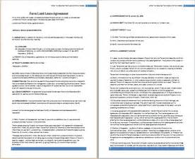Farm Rental Agreement Template free land lease agreement template rental lease