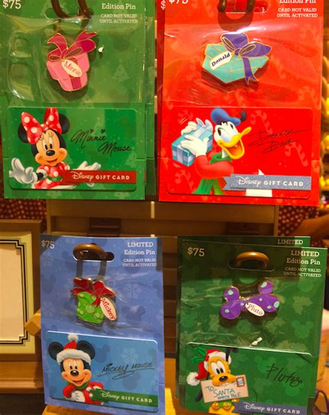 Limited Gift Cards - holiday gift card pins 2015 disney pins blog