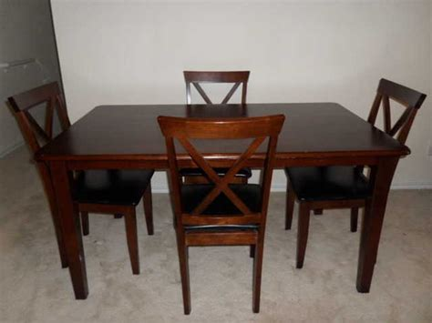 55 wooden kitchen or dinner table 4 chairs for sale from