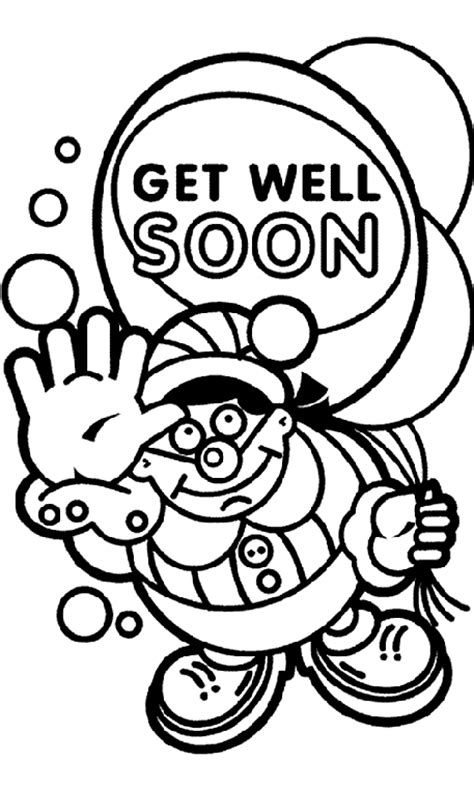 get well soon colouring card template get well soon balloon coloring page crayola