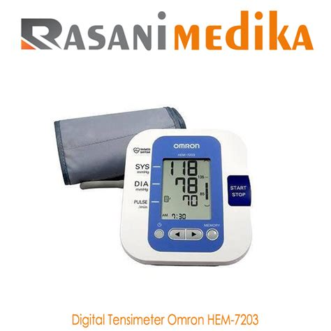 Tensimeter Omron Sem 1 tensi meter digital omron hem 7203 rasani medika