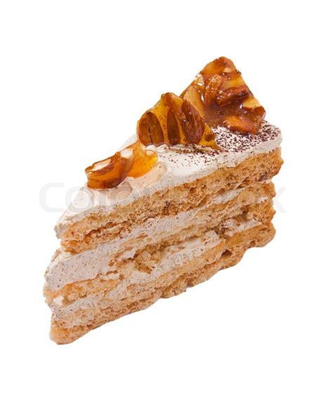 mandel honig kuchen mocha kuchen verziert mit honig sirup und mandel nuss auf