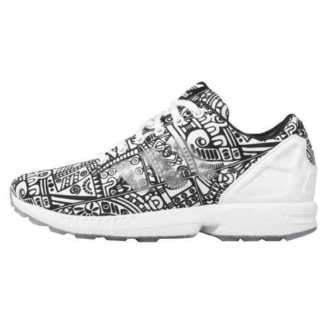adidas originals zx flux black white ripstop mens running shoes aq5461 ebay