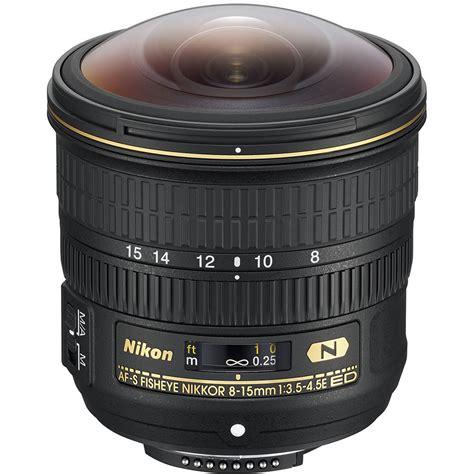 Lensa Fisheye Nikkor nikon af s fisheye nikkor 8 15mm f 3 5 4 5e ed lens 20066 b h