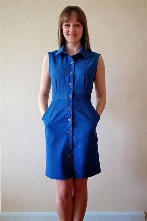 jeans dress pattern diary of a chain stitcher denim mccalls 6696 shirtdress