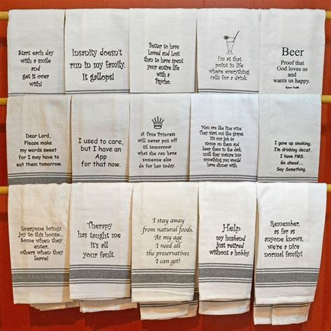 Kitchen Towels With Sayings 85 Best Images About Embroidery On Dish