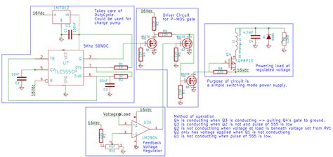 diode for switching power supply switch mode power supply how to adjust this circuit to use n mosfet instead of p mosfet