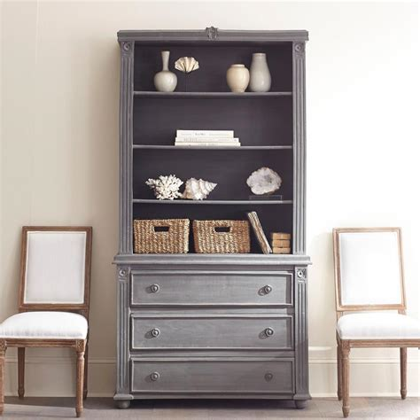 gray bookcase with doors bookcase styling made simple coastal collective co