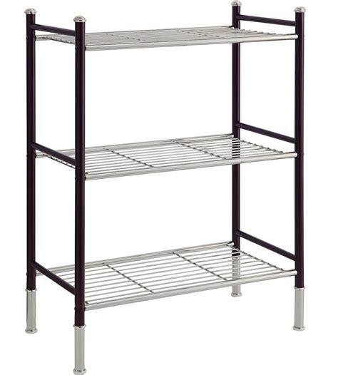 3 tier shelving unit in bathroom shelves