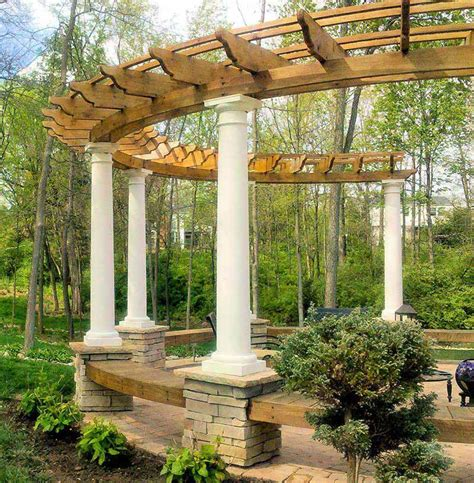 Diy Backyard Patio Ideas Outdoor Pergolas Home Design Ideas Quiet Corner
