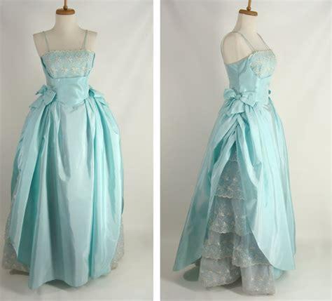 Viny Outer 18583 Blue Pink Retro Dress amazing vintage 50s prom dress pastel blue by wardrobetheglobe