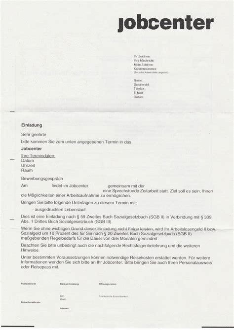Fragen Im Bewerbungsgesprach Vom Arbeitgeber einladung vom jobcenter animefc info