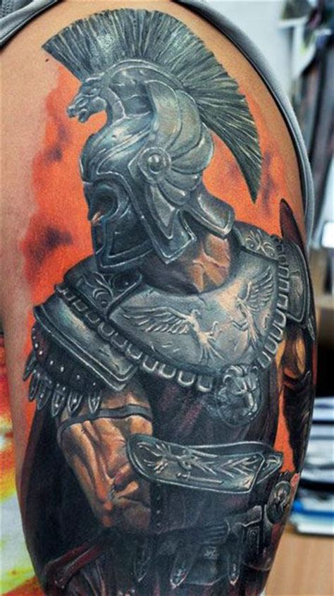 roman soldier by dmitriy samohin tattoos pinterest