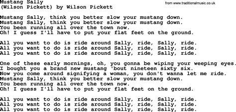 mustang sally lyrics opinions on mustang sally song