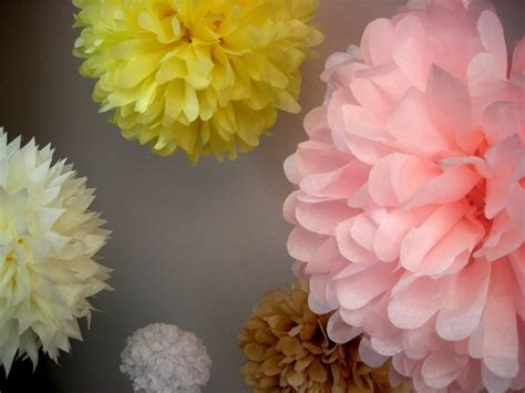 How To Make Tissue Paper Decorations For Baby Shower - custom colors 10 tissue paper pom poms wedding