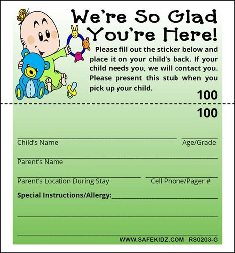 Church Volunteer Info Registration Card Template Areas Work by 1000 Images About Nursery Room On Church