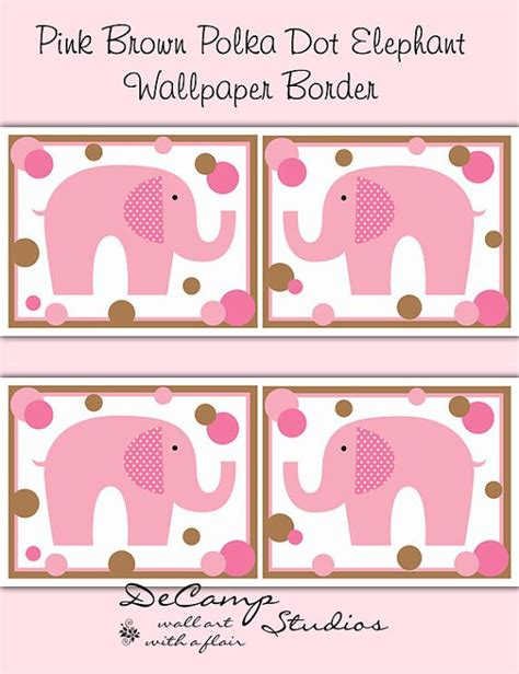 pink wallpaper target pink and brown polka dot elephant wallpaper border wall